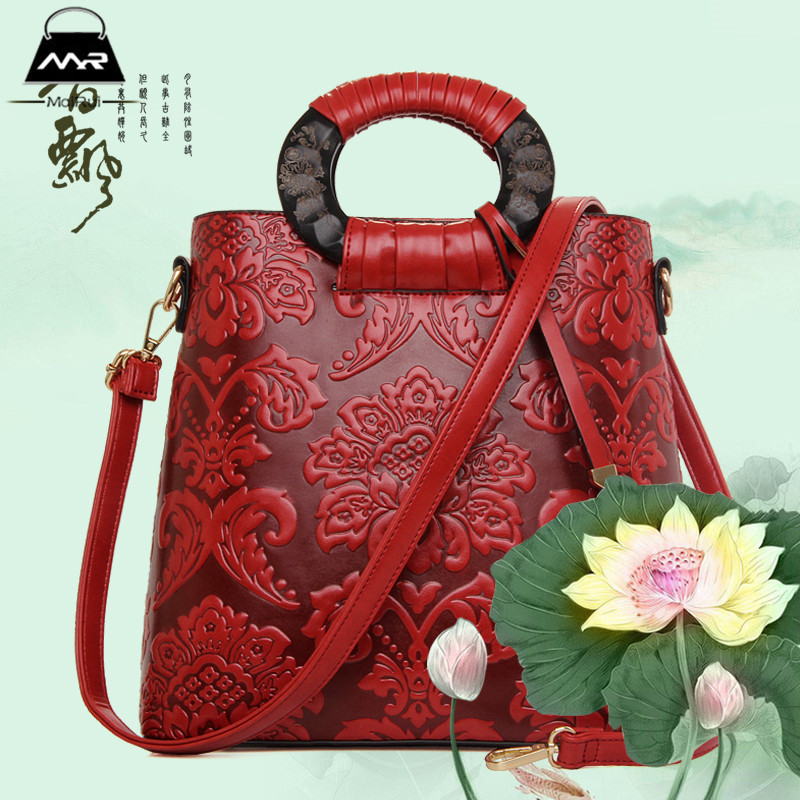 The Spring Of 2016 New Leather Red Mother Solid Bag Special Offer Hot Sale Shoulder Bag