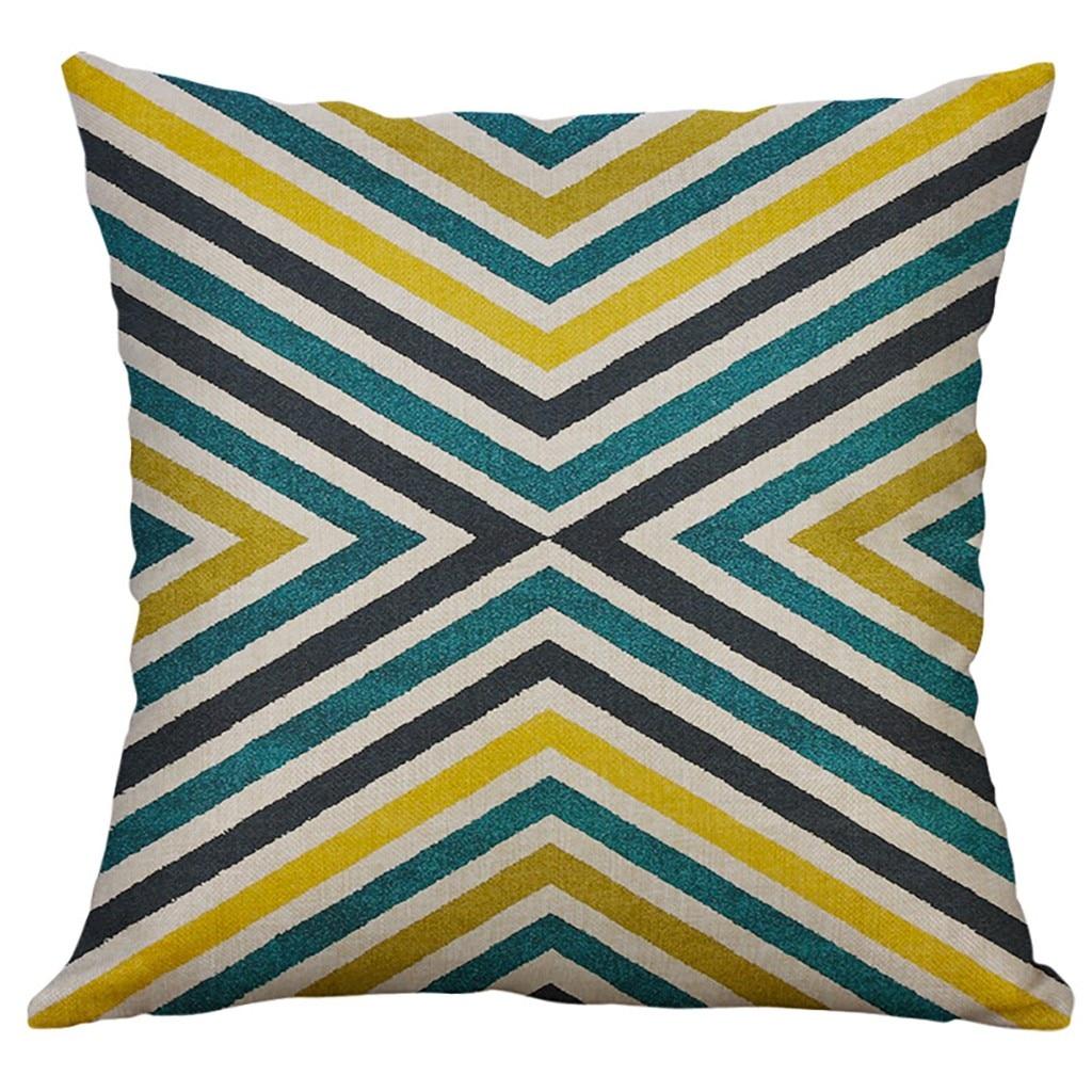 Image 4 - Irregular Geometric Pattern Pillowcase Cushion Cover 60x60cm Sofa Waist Throw Cushion Cover Home Decor Cushion Covers Gift-in Cushion Cover from Home & Garden