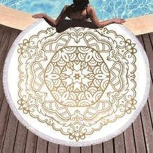 Mandala Gedruckt Strand Handtuch Goldene Mikrofaser Strand Handtuch Große Sommer Quaste Bad Handtuch Sport Reise Picknick Decke Yoga Toalla