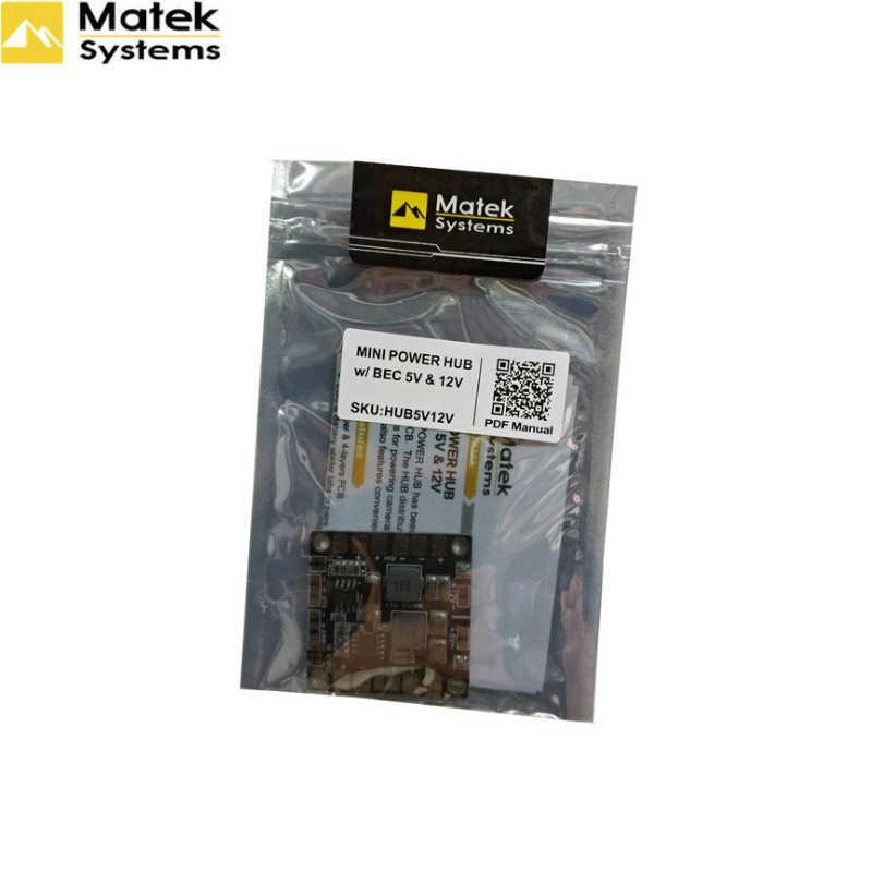 Matek mini power hub placa de distribuição pdb com bec 5 v & 12 v para fpv qav250 zmr250 multicopter quadcopter