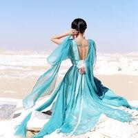 الصيف النساء maixu خمر المالكة اليونانية إلهة أنيقة يا الرقبة أكمام زهرة حزام عارية الذراعين الشيفون الدانتيل خليط فستان طويل