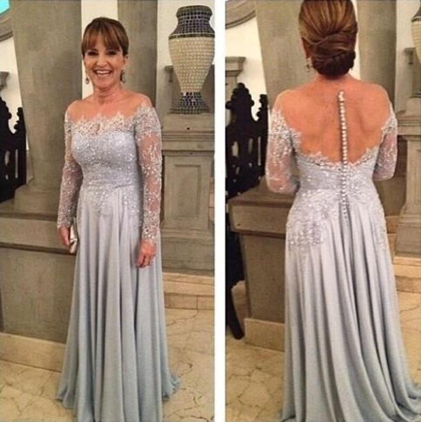 Elegant Long Sleeve Groom Dresses Mother Of Bride
