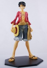 Free Shipping One Piece Action Figures Two Years Later New World 25CM Monkey D Luffy PVC Toys One Piece Dolls For Boys