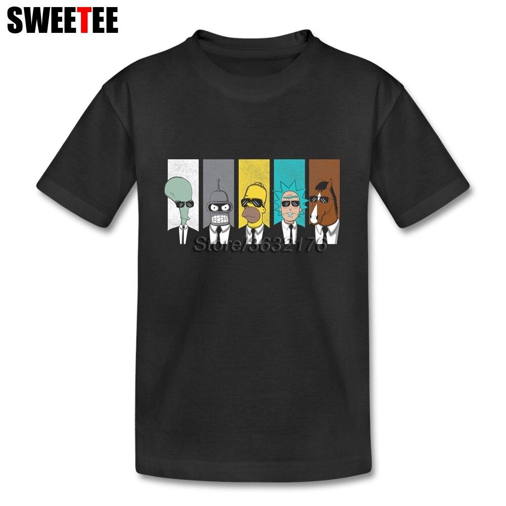 Рик Morty футболка cool ТВ футболки сын из 100% хлопка для мальчиков и девочек короткий рукав футболки для ребенка Топ Дизайнер От 4 до 8 лет футболк...
