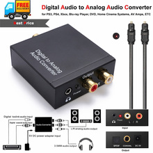 1m Optical Coaxial Toslink Cable Digital to Analog Audio Converter Adapter With AUX 3.5mm Jack
