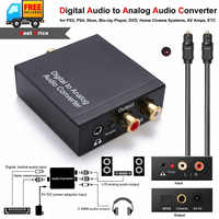 1m koncentryczny optyczne Toslink kabel cyfrowy na analogowy konwerter audio Adapter z AUX Jack 3.5mm