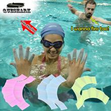 Silikonowe dłonie ręczne płetwy do pływania ręczne rękawice do pływania płetwy do pływania Triathlon płetwy treningowe szybkie rękawice do palców Web Paddle tanie tanio QUESHARK FF397