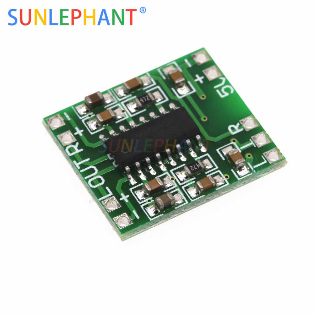 PAM8403 Mini Amplificador Digital Board 2*3 w Classe D Digital Placa Amplificador de Potência de 2.5 v Para 5 v