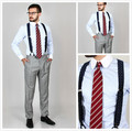 New arriving 100% cotton blue striped with contrast white club collar and button cuff striped shirt men