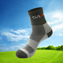 High quality Quick Drying Men Coolmax Socks Outdoor Sports Hiking Camping Cycling Socks Half Thick Running Socks Thermosocks