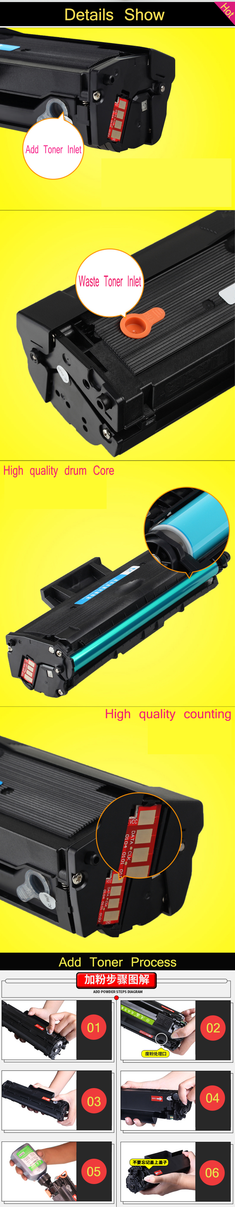 US $41 48 5% OFF Refill more 2 times For samsung 111 toner cartridge for  Samsung M2070/M2070W/M2070F/M2070FW laser printer-in Toner Cartridges from