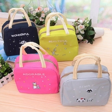 Cartoon Animals font b Lunch b font font b Bags b font Women Portable Insulated Thermo