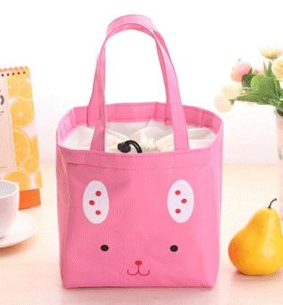 Cartoon Tiere Lunch Box Tasche Bento Mittagessen Container Lebensmittel Tasche Container Japanischen Stil Kunststoff Mittagessen Sushi Box Tasche