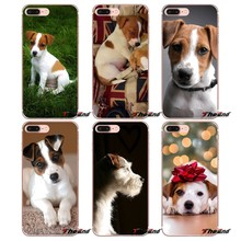 Para o iphone X 4 4S 5 5S 5C SE 6 6 S 7 8 Plus Samsung galáxia J1 J3 J5 J7 A3 A5 2016 2017 Jack Russell Terrier Cachorro Filhote de Cachorro Filhote de Cachorro cobre(China)