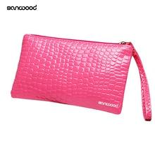 Для женщин портмоне сцепления браслет из искусственной кожи Сумки кошелек карты держатель телефона Макияж сумка клатч маленькая сумочка