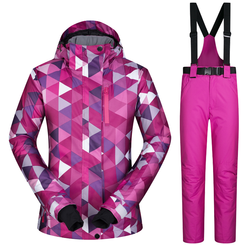 Women's Ski Jacket And Pant Winter Outdoor Jacket Snowboard Ski Coat Women Snow Wear ski Suit Windproof Waterproof Breathable ski jacket women ski pant windproof waterproof snowboard suits snow wear ladies ski jacket sets outdoor suits