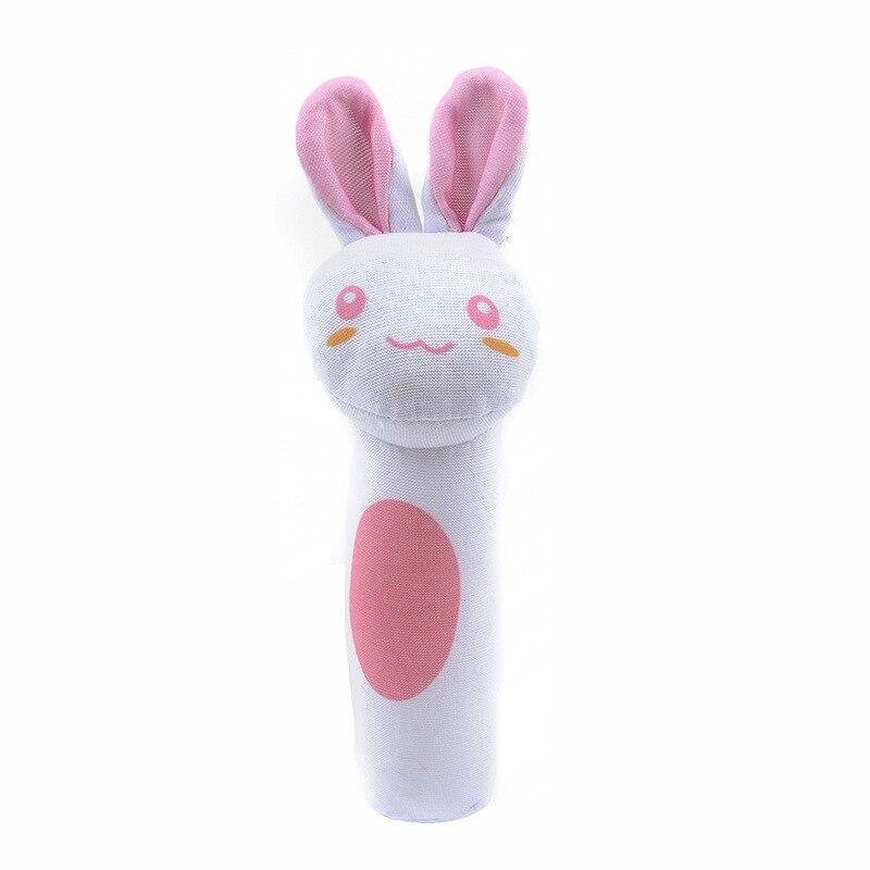 Детские погремушки Fulljion, развивающие игрушки для детей, Прорезыватель для зубов, Колокольчик для малышей, детская коляска, подвесные куклы - Цвет: white rabbit