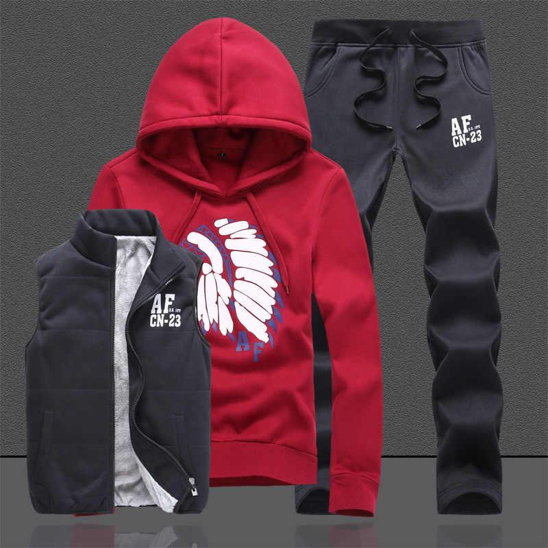 Xxxxl толстовки Для мужчин спортивная куртка жилет Штаны Для мужчин  комплект одежды спортивный костюм Jogger Для d3c9d242734