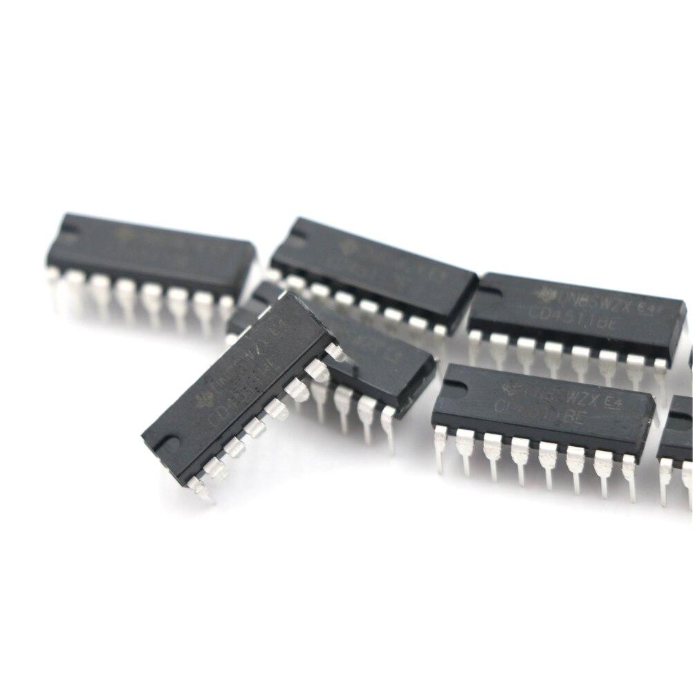 10pcs CD4511 CD4511BE 4511 CMOS BCD to 7 segment Latch Decoder IC XS