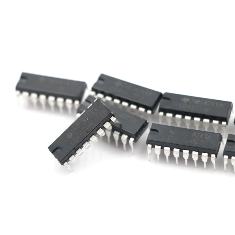 20Pcs CD4511 CD4511BE 4511 Cmos Bcd To 7 Segment Latch Decoder hc