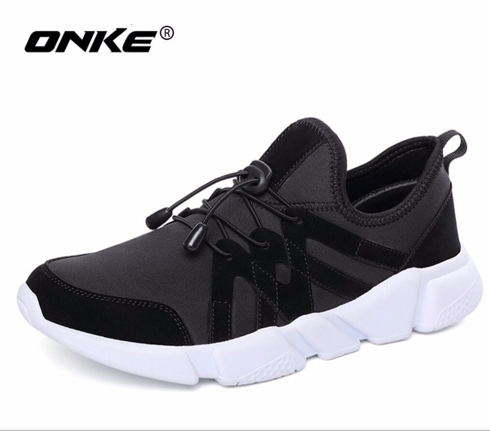 ONKE New Arrival Hot sales Breathable canvas+pu men Running Shoes Sneakers Lightweight Sport Shoes  830