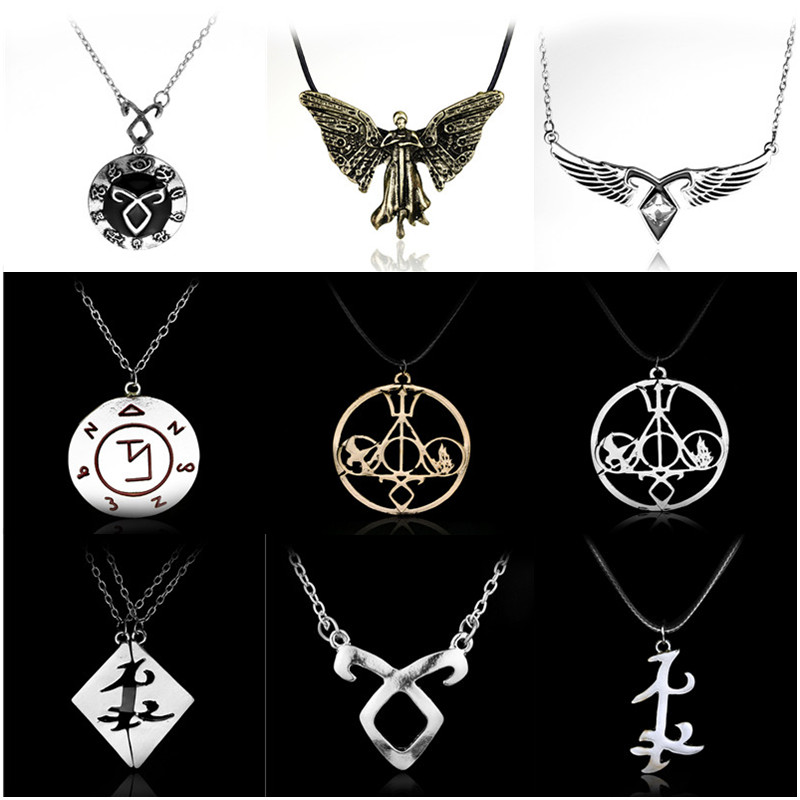 The Mortal Instruments City Of Bones Necklace Angelic Power Runes Pendant For Men And Women