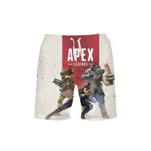VEEVAN Men Beach Shorts Games Apex Letter 3D Printing Board Shorts Quick-dry Short