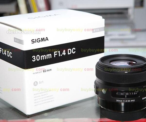 Sigma 30mm F1.4 DC HSM ART Lens For Nikon new sigma 50 100mm f 1 8 dc hsm art series lens for canon
