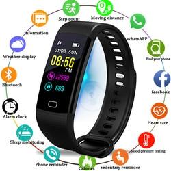 BANGWEI Smart Браслет наручные часы Для мужчин спортивные часы Фитнес шагомер сердечного ритма крови Давление монитор Смарт часы Smart Band + Box