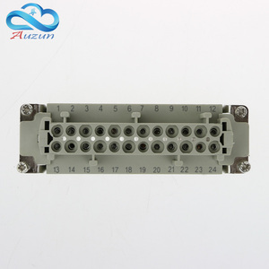 Image 3 - Rectangular H24B   HE   024 1 heavy duty connectors 24 pin  line 16 a500v screw feet of aviation plug on the side