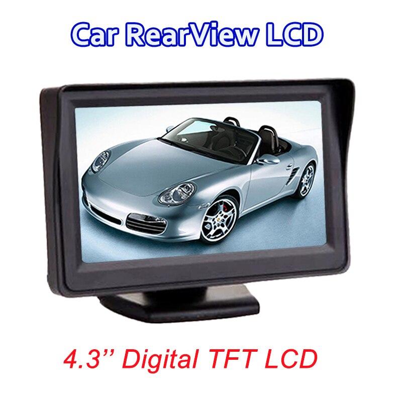 Viecar 4,3-zoll farbe TFT LCD monitor display Auto parkplatz rearview backup 4,3 ''video PAL/NTSC