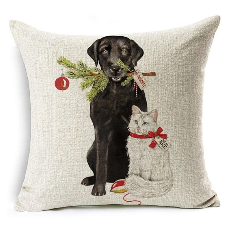 Cushion Cover Cute Dog Dachshund Print Pillow Cover Animals Pillow Cover Decorative Pillowcase For Sofa Chair Cushion Cover 45x45cm Home Decor Luxuriant In Design