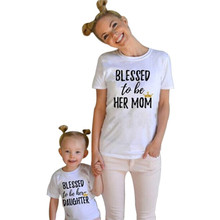 88d76ca18 [Mommy and Me] Kids Clothes Baby Girls Short Sleeve Letter Print T shirt  Summer