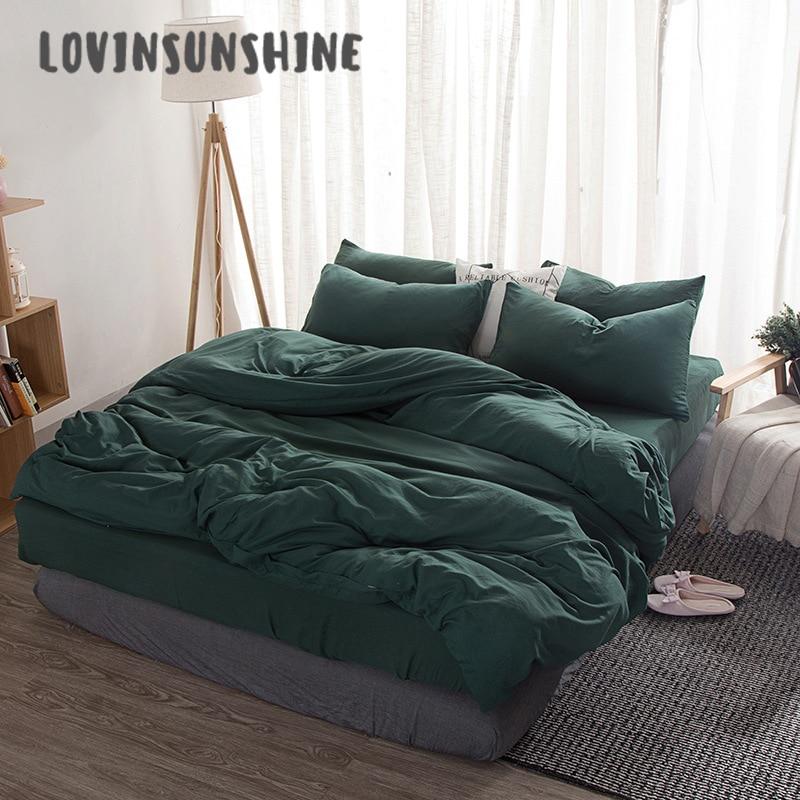 us 26 46 20 off lovinsunshine comforter set king size solid color bedding set green duvet cover ab 108 bedding sets aliexpress
