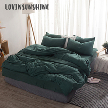 LOVINSUNSHINE Comforter Set King Size Solid Color Bedding Green Duvet Cover AB#108