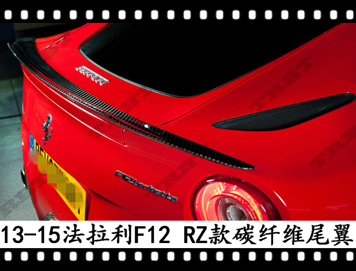 Fit for Farreri F12 Berlinetta  carbon fiber rear spoiler rear wing