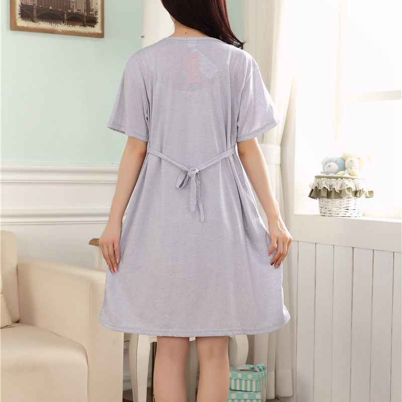 c62627b6d51 ... Maternity Clothing New Character Short Knee-length Cotton Casual Clothes  for Pregnant Women Breastfeeding Dress ...