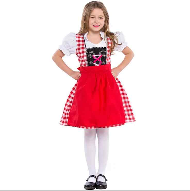 8badf4d9e ... S-XL Children Oktoberfest princess Costumes German Kids Girl Beer Maid  Heidi Costume Bavarian Dirndl ...