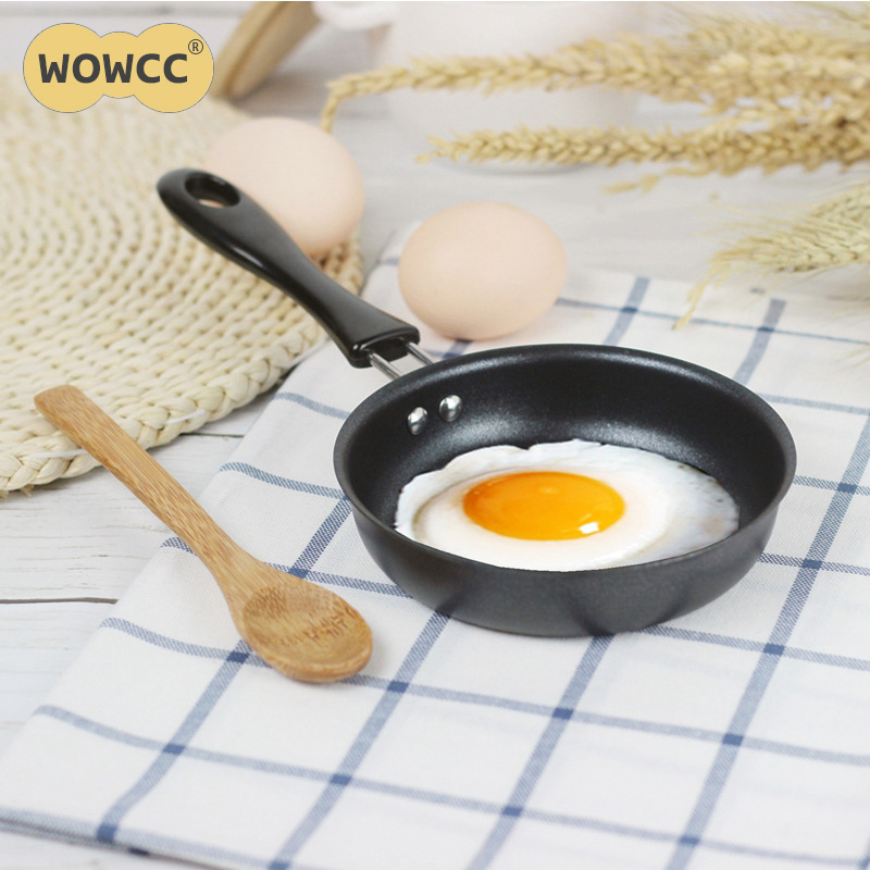 12CM Practical Omelette Breakfast Mini Saucepan Pancake Egg Frying Pan Non-Stick Pot Mini Cookware Kitchen