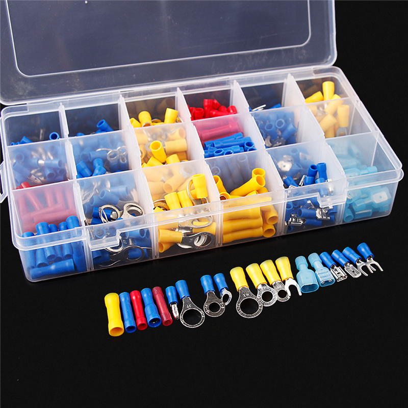 360Pcs Assorted Insulated Spade Connector Crimp Electrical Terminal Set Red Blue Yellow сумка kate spade new york wkru2816 kate spade hanna