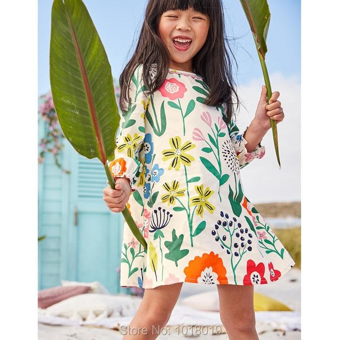 New 2018 Brand Quality 100% Cotton Kids Dresses Baby Girls Dress Long Sleeve Children Clothing Baby Girl Clothes Bebe Dress Girl