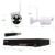 4CH 8CH 720 P 960 P 10 Polegada Displayer Sistema de CCTV Sem Fio NVR Câmera IP IR-CUT Bala CCTV Sistema de Segurança Home CCTV Kit