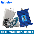 Gain 70dB Phone Signal Repeater 4G LTE 2600mhz (LTE Band 7) Mobile Signal Booster full set with LPDA/Ceiling Antenna 15M Cable