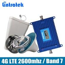 Lintratek репитер 4g усилитель 4g 70Дб усилитель 4g lte ретранслятор сигнала телефон сигнал повторителя 4g LTE band 7 репитер Мобильный усилитель сигнала полный комплект