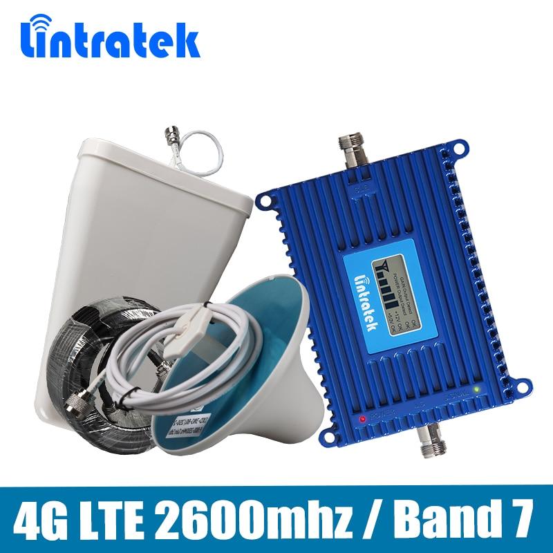 Répéteur Lintratek 4G Gain 70dB répéteur de Signal de téléphone 4G LTE 2600 mhz (bande LTE 7) amplificateur de Signal Mobile amplificateur complet @ 68
