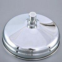 8 inch Polished Chrome Round Shape Bath Rainfall Rain Bathroom Shower Head Bathroom Accessory (Standard 1/2) msh236