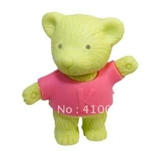 Хорошее качество милые Дизайн Мишка Ластики разные цвета медведь Ластики животного Ластики 20 шт. в партии с обслуживание