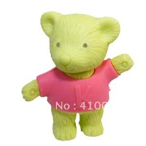 Good Quality Cute Design Teddy Bear Eraser Random Color Bear Eraser Animal Eraser 20 Pieces Per Lot With Freeshipping Service