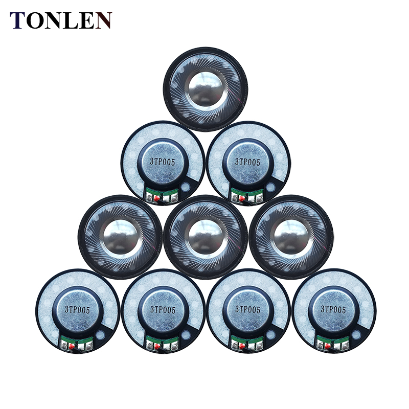 TONLEN 10pcs 40mm Headphone Speaker Horn DIY Portable Audio Speakers 0.5W 24ohm Full Range Dynamic Headset Speakers