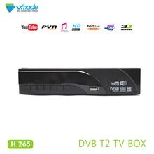 Vmade DVB T2 телеприставка полностью HD 1080 p цифровой наземный ТВ приемник тюнер H.265 MPEG-2/4 поддерживает YouTube PVR DVB T2 tv box
